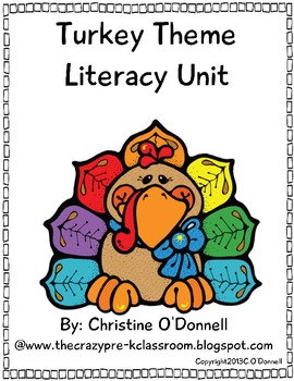 Turkey Pre-K Literacy Centers: Word work, common core