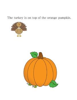 Turkey Preposition Activity