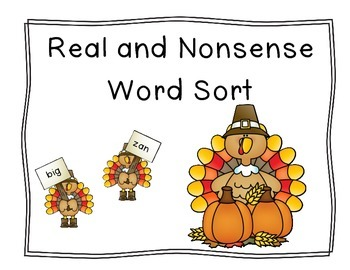 Turkey Real and Nonsense Word Sort