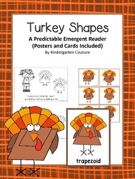 Turkey Shapes A Predictable Emergent Reader With Posters (