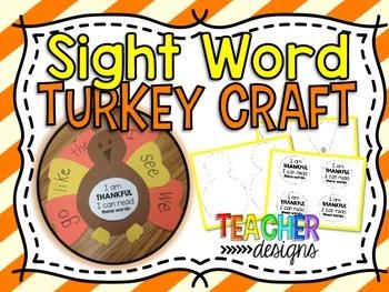 Turkey Sight Word Craft