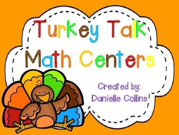 Turkey Talk 1st Grade Math Centers (10 Common Core Centers)