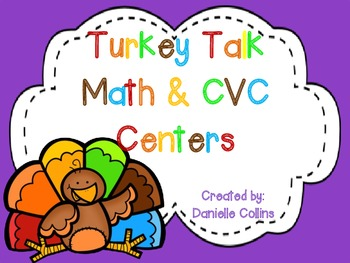 Turkey Talk 1st Grade Math & Literacy Centers (19+CCSS)