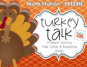 Turkey Talk: Math Station Activity {Problem Solving} Thank