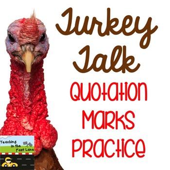 Quotation Marks: Turkey Talk