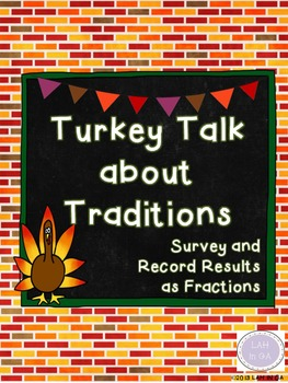Thanksgiving Turkey Talk about Traditions Survey and Respo