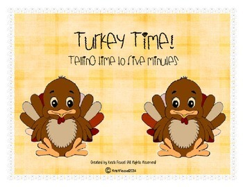 Turkey Telling Time Scoot! (to 5 minutes)