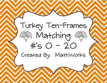 Turkey Ten-Frame Matching Game 0-20