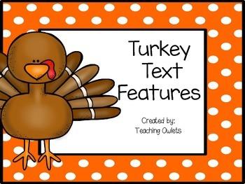 Turkey Text Features Book (Freebie)