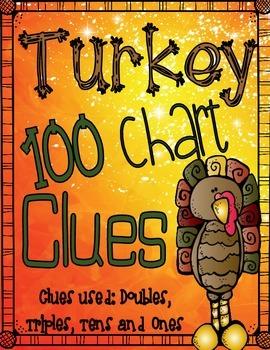 Turkey / Thanksgiving 100 Chart Clue