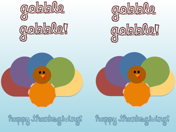 Turkey Thanksgiving EOS Printable