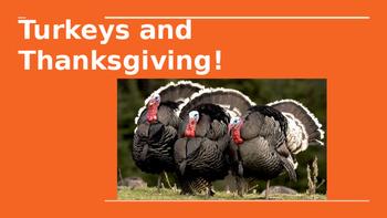 Turkey/ Thanksgiving powerpoint