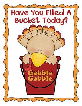 Turkey Themed Bucket Filler Poster Freebie