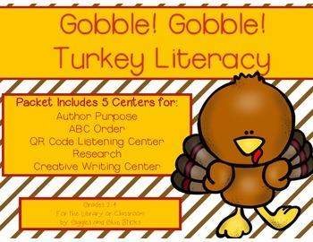 Turkey Themed Literacy Centers