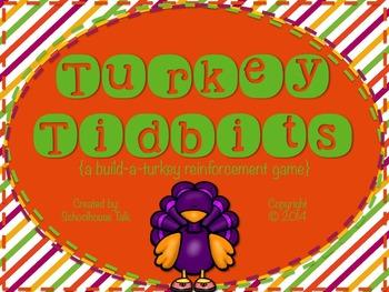 Turkey Tidbits {build-a-turkey reinforcement game}