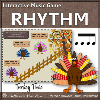 Turkey Time - Interactive Rhythm Game (Sixteenth Notes)