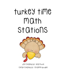 Turkey Time Math Stations