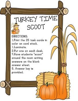 Turkey Time Math Story Problems