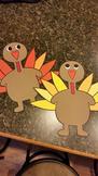 Thanksgiving Turkeys: Tom Turkey Project (5 Turkeys)