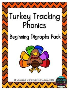 Turkey Tracking Phonics: Beginning Digraphs Pack
