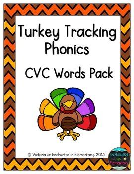 Turkey Tracking Phonics: CVC Words Pack
