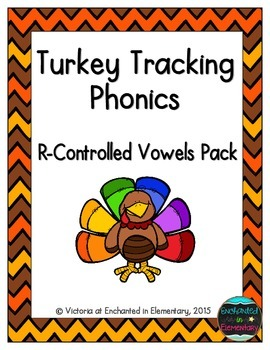 Turkey Tracking Phonics: R-Controlled Vowel Words Pack