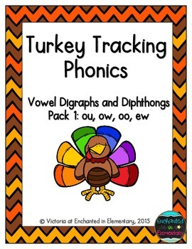 Turkey Tracking Phonics: Vowel Digraphs and Diphthongs Pac
