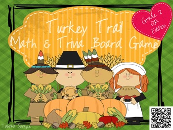 Turkey Trail- A Math and Thanksgiving Trivia Board Game Gr