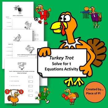 Turkey Trot Thanksgiving Equations Tiered Differentiated