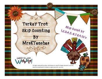 Turkey Trot Skip Counting