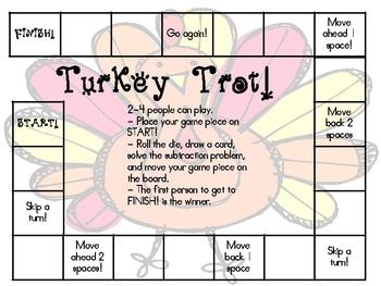Turkey Trot!  Subtraction