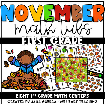 Turkey Trouble: November Math Tubs (FIRST GRADE)