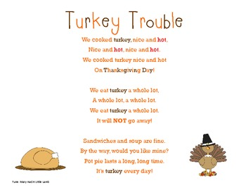 Turkey Trouble Song