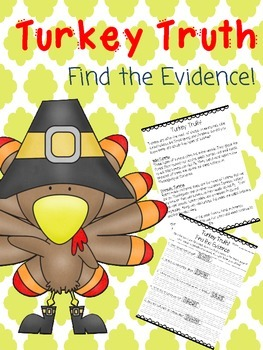 Turkey Truth! Finding Evidence in a Thanksgiving Text Activity