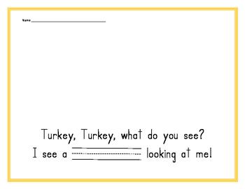 Turkey, Turkey, What do you see?