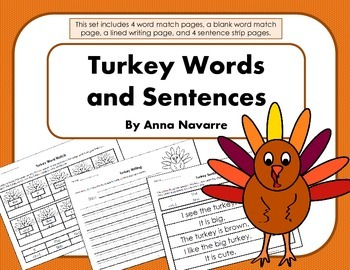 Turkey Words and Sentences