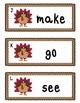 Sight Word Write the Room - Turkeys (Pre-Primer and Primer)