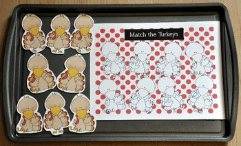 Turkey and Thanksgiving Cookie Sheet Activities