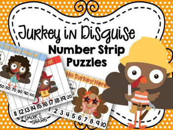 Turkey in Disguise Number Strip Puzzles