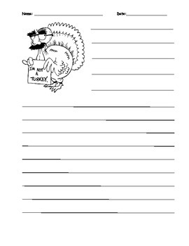 Turkey in disguise writing prompt