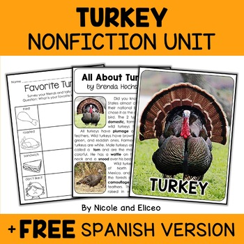 Nonfiction Turkey Unit Activities