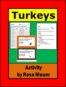 Turkeys Task Cards