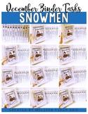 Snowmen Bundle- Independent Work Binder System