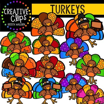 Turkeys {Creative Clips Digital Clipart}