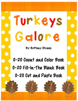 Turkeys Galore: 0-20 Counting Books