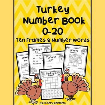 Turkeys Number Book 0-20