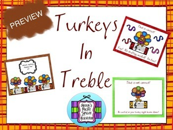 Turkeys in Treble - Review the Treble Clef BUNDLE