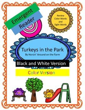 Turkeys in the Park - Emergent Reader {Color Words}