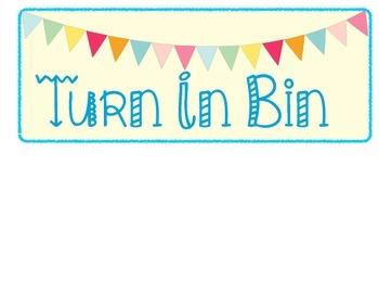 Turn In Bin Labels