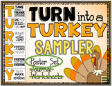 Turn Into A Turkey! Posters Set for Giving Thanks and Giving Back